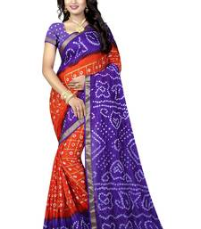 Buy Multicolor silk saree with blouse bandhani-sarees-bandhej online