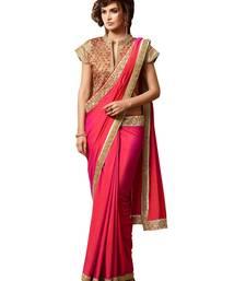 Buy Red embroidered silk saree designer-embroidered-saree online