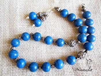 Camelbone oxidized necklace set