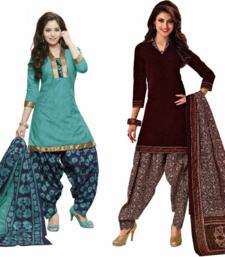 Buy Multicolor floral print crepe salwar with dupatta salwar-combo online