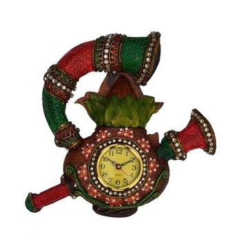 Papier-Mache Shenai Wall Clock