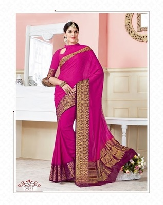 Pink woven art_silk_sarees saree with blouse