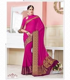 Buy Pink woven art_silk_sarees saree with blouse art-silk-saree online
