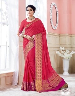 Red woven art_silk_sarees saree with blouse