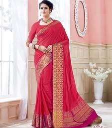 Buy Red woven art_silk_sarees saree with blouse art-silk-saree online