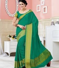 Buy Green woven art_silk_sarees saree with blouse art-silk-saree online