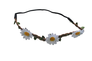 Daisy  Hairwreath (White)