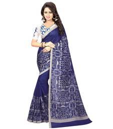 Buy Blue printed kalamkari saree with blouse kalamkari-saree online