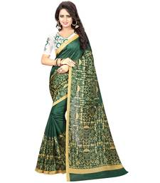 Buy Green printed kalamkari saree with blouse kalamkari-saree online