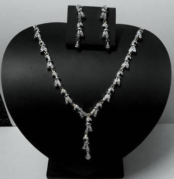 Shining CZ Diamond Necklace 005