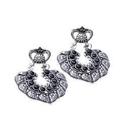 Buy GiftPiper Oxidized Metal Earrings with Stones- Black Earring online