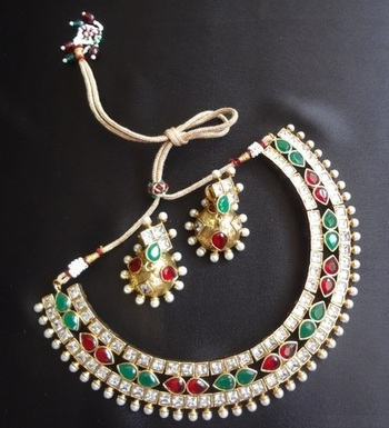 Bridal Bling Designer Necklace set with Earrings