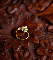 Buy Designer Diamond  Nose Ring nose-ring online