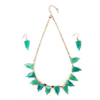 Multi color Fashion-forward Necklace Set