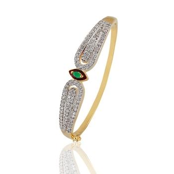 Heena Trendy Green stone, Maroon Enamel touch Bracelete by Heena Jewellery >> HJBC23 <<