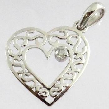925 rhodium plated pendant