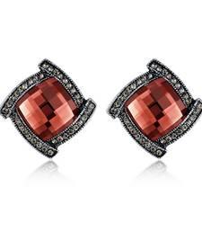 Buy Brown crystal earrings Earring online