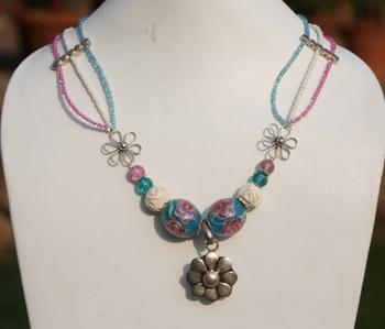 Floral Necklace.