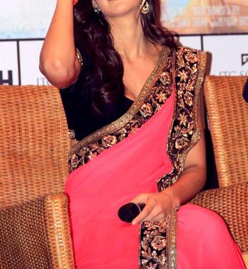 Katrina Kaif Indian Traditional Bollywood Designer Partywear saree, Fancy Saree