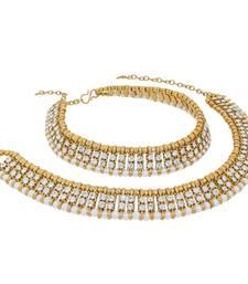 Buy Gold pearl anklets anklet online