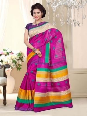Bhagalpuri Silk casual saree with unstitched blouse