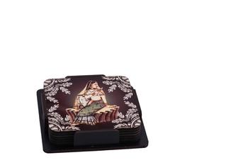 Queen Victoria Digital Printed Wooden Tea Coaster Set  (Pack of 6)