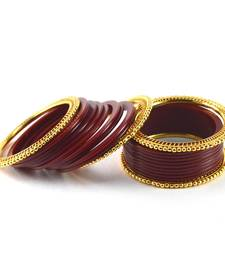 Buy Attractive  bangles  colour maroon black-friday-deal-sale online