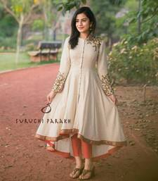 Buy Off white embroidered cotton salwar patiala-salwar online