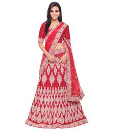 Buy Pink embroidered silk unstitched lehenga with dupatta karva-chauth-lehenga online