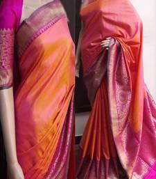 Buy Multicolor printed silk saree with blouse printed-saree online
