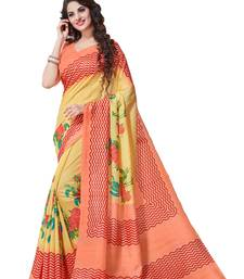 Buy Pink printed south silk saree with blouse south-indian-saree online