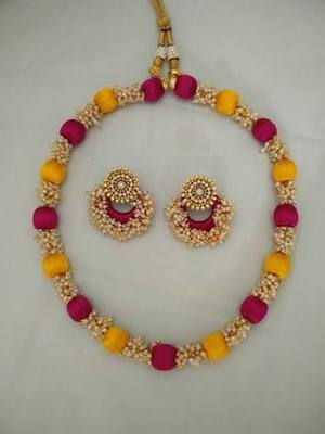 product designer necklace silk quilling thread set d jewellery pink page s charming