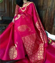 Buy Multicolor printed tussar silk saree with blouse tussar-silk-saree online