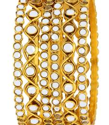 Buy Gold plated bangles and bracelets party-jewellery online