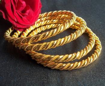 Golden Set Of 4 Bangles