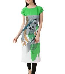 Buy Parot  American Crepe stitched kurti kurtas-and-kurtis online