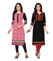 Buy Multicolor printed cotton unstitched kurtas-and-kurtis combo-kurtis online