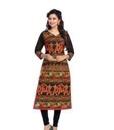 Buy Multicolor printed cotton kurtas-and-kurtis wedding-season-sale online