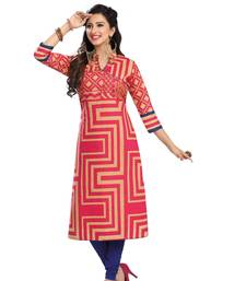 Buy Multicolor printed cotton kurtas-and-kurtis punjabi-kurti online