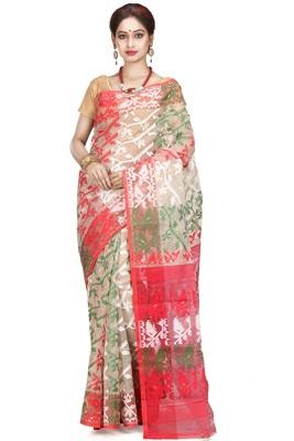 Multicolor hand woven silk cotton saree