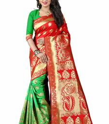 Buy Red woven cotton silk saree with blouse other-saree online
