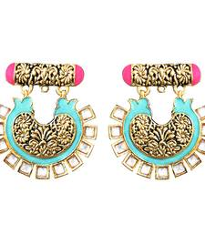 Buy Antique kundan meenkari bali danglers Earring online