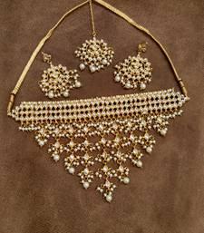 Buy Noorie Kundan choker necklace set necklace-set online