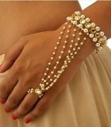 Buy White pearl haath-phool-hath-panja haath-phool-hath-panja online