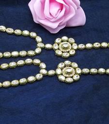 Buy Artificial Kundan Designer Hath Panja For Women Jewellery haath-phool-hath-panja online