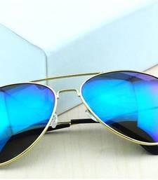 Buy Apnisha blue mercury aviators for men sunglass online