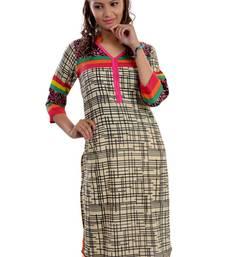 Buy Multicolor Jaipuri Printed Cotton Casual Wear Kurti kurtas-and-kurtis online