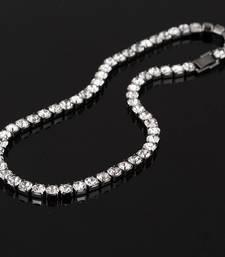 Buy CZ Diamond Choker Necklace- Gold Plated Necklace online