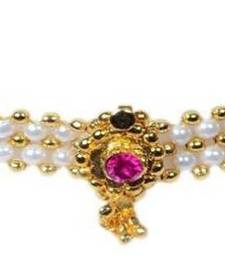 Buy Kolhapuri Traditional White Choker Necklace Necklace online