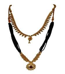 Buy Kolhapuri Traditional Choker Thushi Necklace With Earrings jewellery-combo online